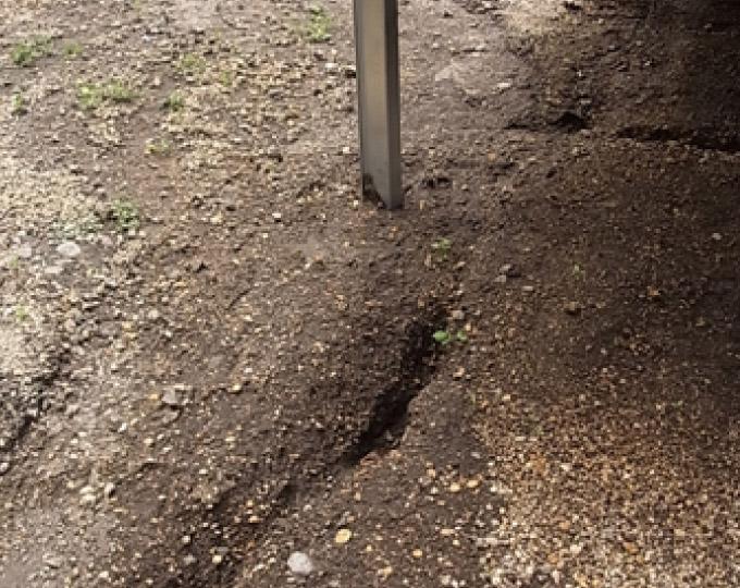 敷地内の洗堀を確認
