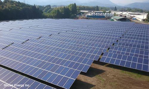 自然電力グループ保有のメガソーラー 新茶第二太陽光発電所(宮崎県)が完工
