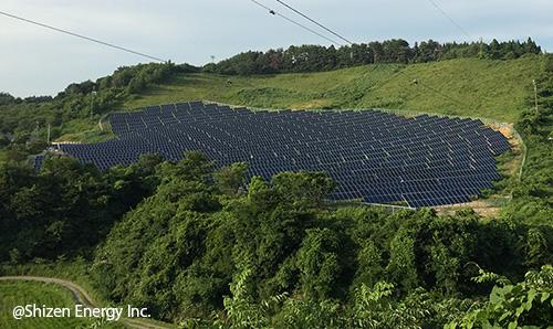 秋田県井川町・スキー場跡地の太陽光発電所が完工