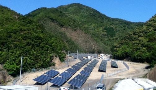 和歌山県みなべ町・備長炭生産地にて太陽光発電所が完工