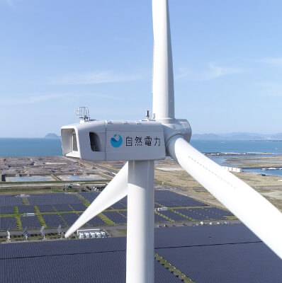 "Shizen Energy completes construction of the ""Kitakyushu Hibikinada Wind & Solar Power Plant"" as the Second Wind Power Plant Development Project"
