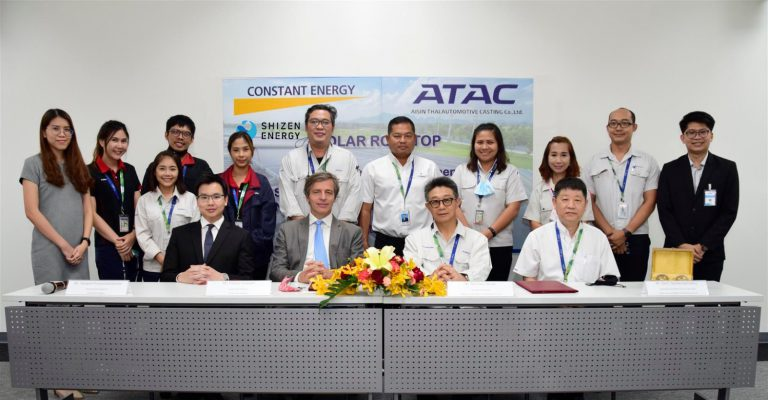 Aisin Thai Automotive Casting (Aisin Group) and Shizen Energy / Constant Energy execute a Corporate PPA for a first solar rooftop in Thailand