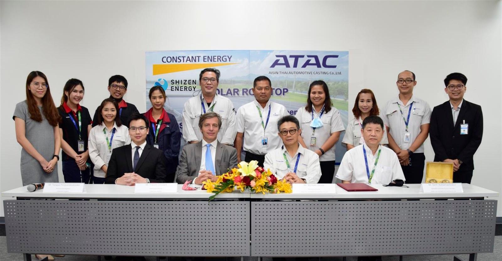 自然電力とConstant Energy、アイシングループ タイ現地法人との初のコーポレートPPA契約を締結